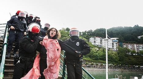 Momento en que la Ertzaintza ha arrestado a Urtza Alkorta. (Aritz LOIOLA)