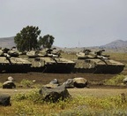 Tanques del Ejército israelí. (AFP PHOTO)