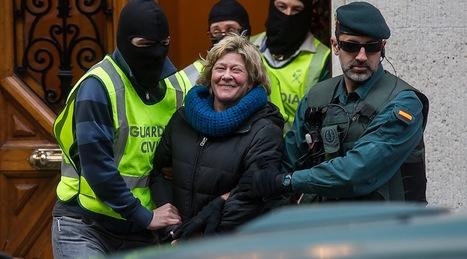 Arantza Zulueta ha sido conducida al registro del despacho de Iñaki Goioaga, que no se ha llevado a cabo. (Luis JAUREGIALTZO/ARGAZKI PRESS)