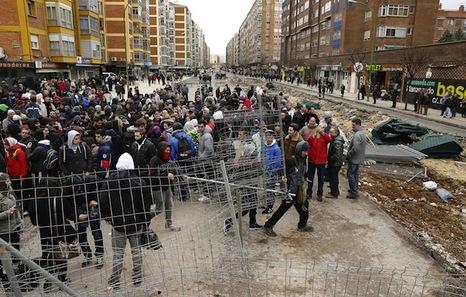 Gamonal (Burgos): Vecin@s del barrio se movilizan para evitar las obras. Gamonal