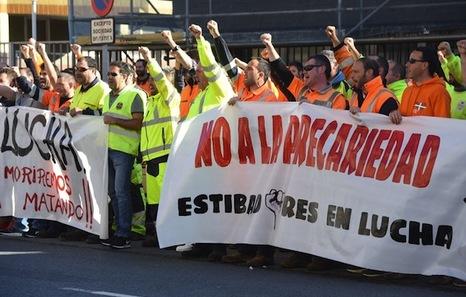 Los estibadores del Puerto de Bilbo abandonan la huelga que iniciaron el 9 de octubre