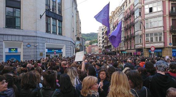 La calle Buenos Aires, en Bilbo.