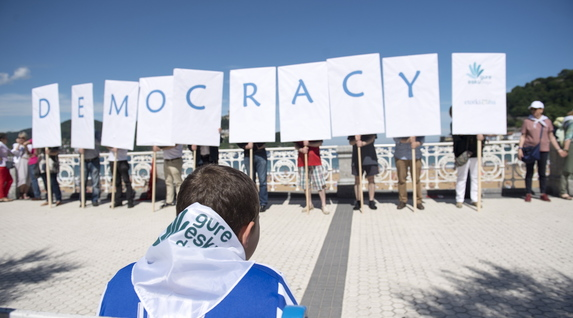 Demokrazia eskaria, Kontxan. (Juan Carlos RUIZ / FOKU)