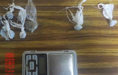 Detenido un menor en Noáin acusado de tráfico de hachís