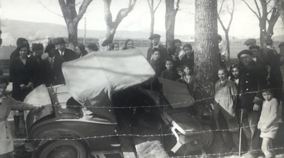 Accidente en la Vuelta del Castillo de Iruñea, 1932 (GALLE)