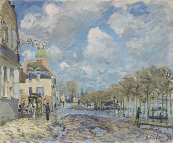 Alfred Sisley. «The Flood at Port-Marly», 1876. Thyssen-Bornemisza Bilduma Fundazioa.