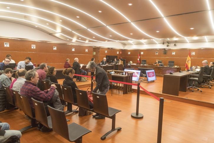 Segunda jornada del juicio por los hallazgos de Iruña-Veleia. (Juanan RUIZ / FOKU)