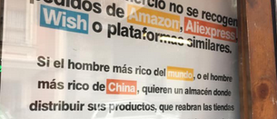 Un bar de Irala anuncia que no recoge pedidos de plataformas como Amazon, Aliexpress o Wish