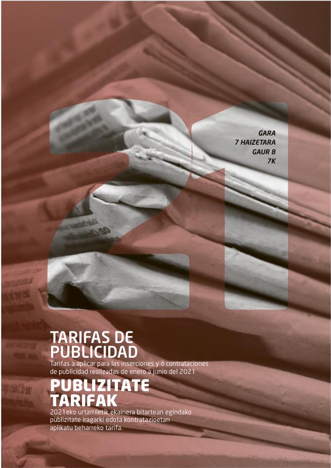 GARA publizitate tarifak 2021