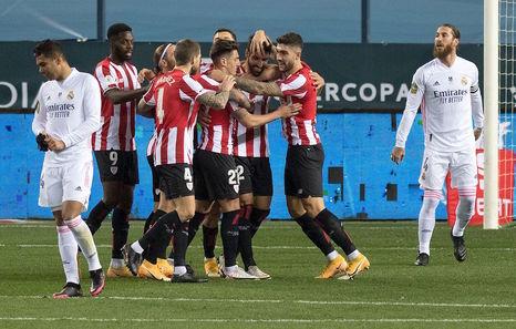 El Athletic se mete en su octava final desde 2009 noqueando a todo un Real Madrid (1-2)