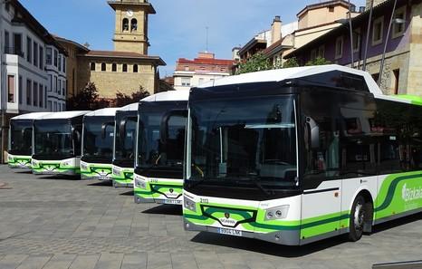 Bizkaibus incorpora seis autobuses híbridos a las líneas de Txorierri