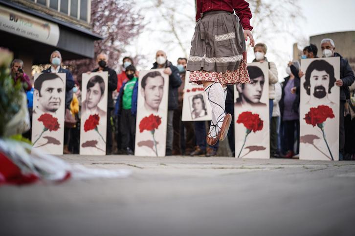 Movilización en Gasteiz en un aniversario del 3 de marzo. (Endika PORTILLO/FOKU