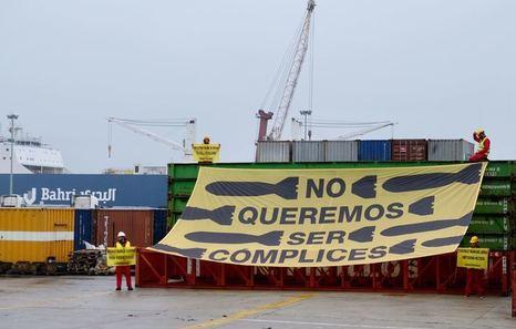 Los activistas que protestaron contra la exportación de armas en Bilbo no ingresarán en prisión