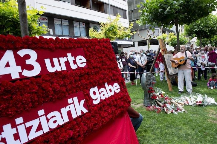 Acto de homenaje a Germán Rodríguez, el pasado mes de julio en Iruñea. (Iñigo URIZ/FOKU)