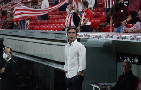Marcelino anuncia rotaciones ante el Rayo y pide un esfuerzo para acudir a San Mamés