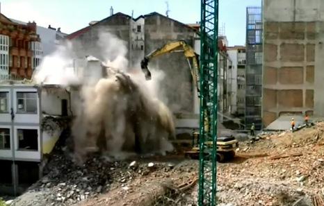 Abaunza niega «incidencias destacables» en el derribo de BAM, como denuncian los vecinos